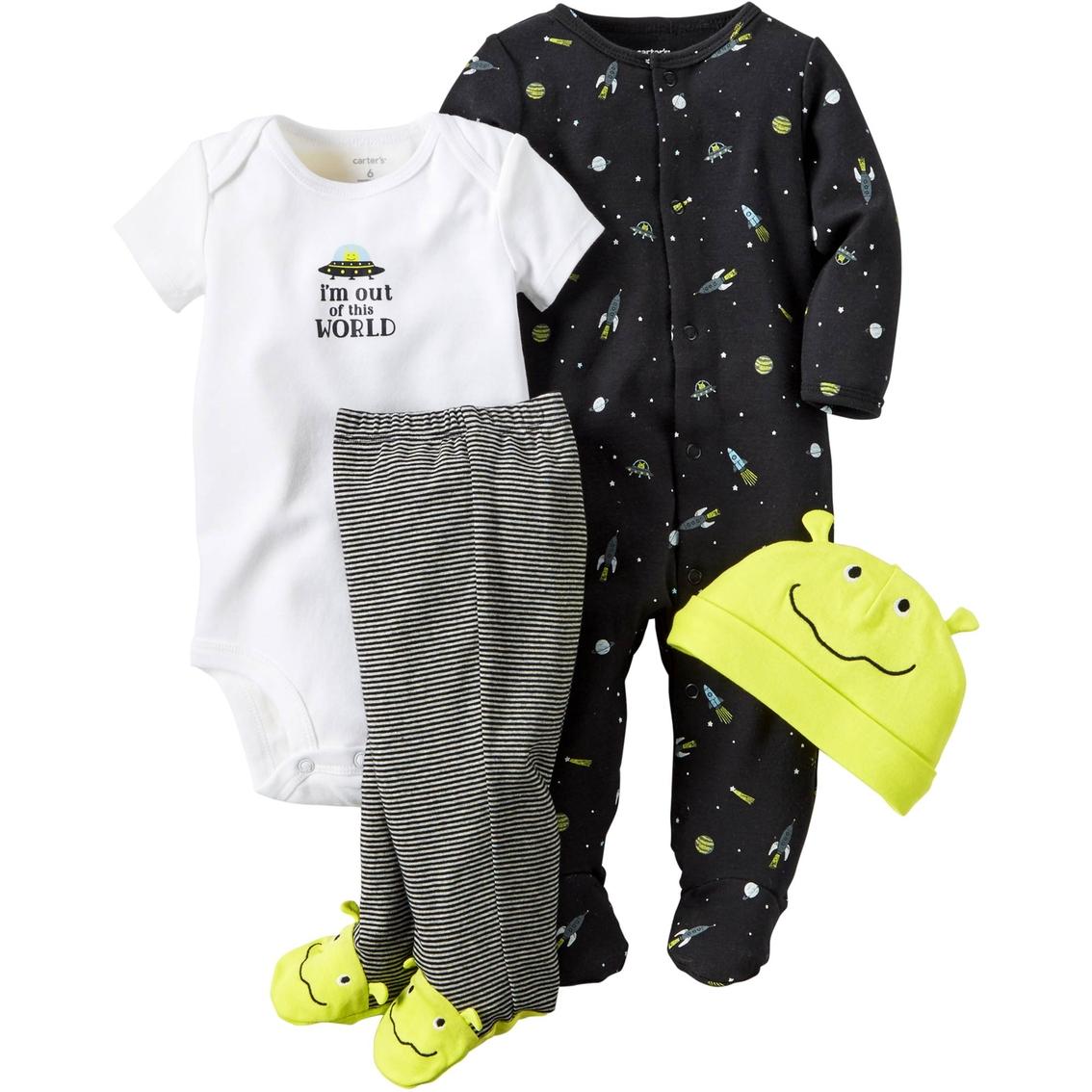 e24179ddc Carter's Infant Boys 4 Pc. Alien Layette Set | Baby Boy 0-24 Months ...