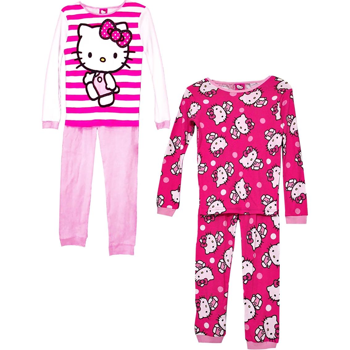 AME Sleepwear Little Girls Hello Kitty Pajama Set