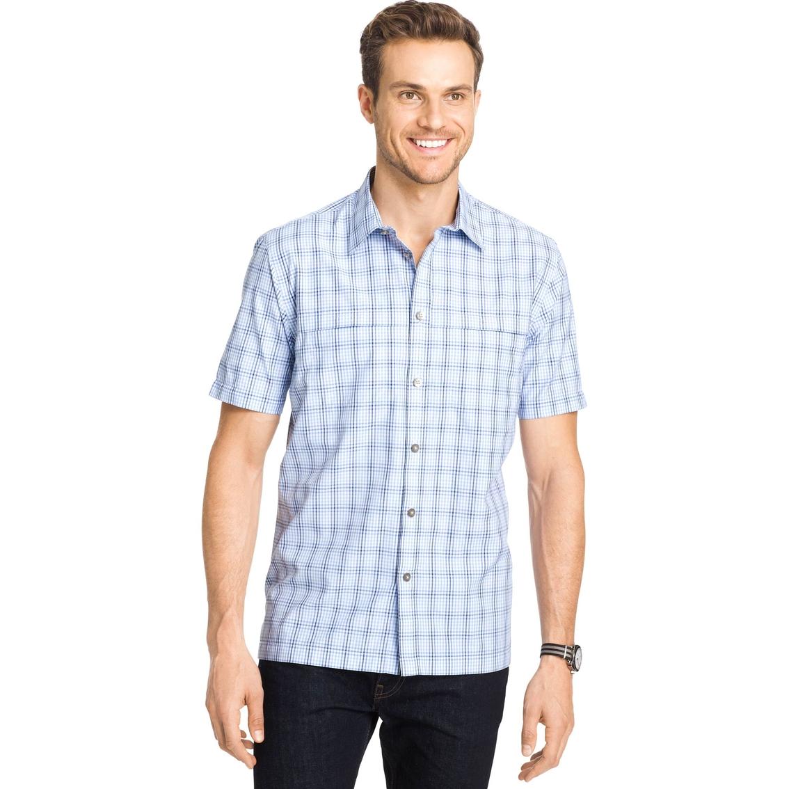 Van heusen sportswear plaid traveler utility shirt for Van heusen plaid shirts