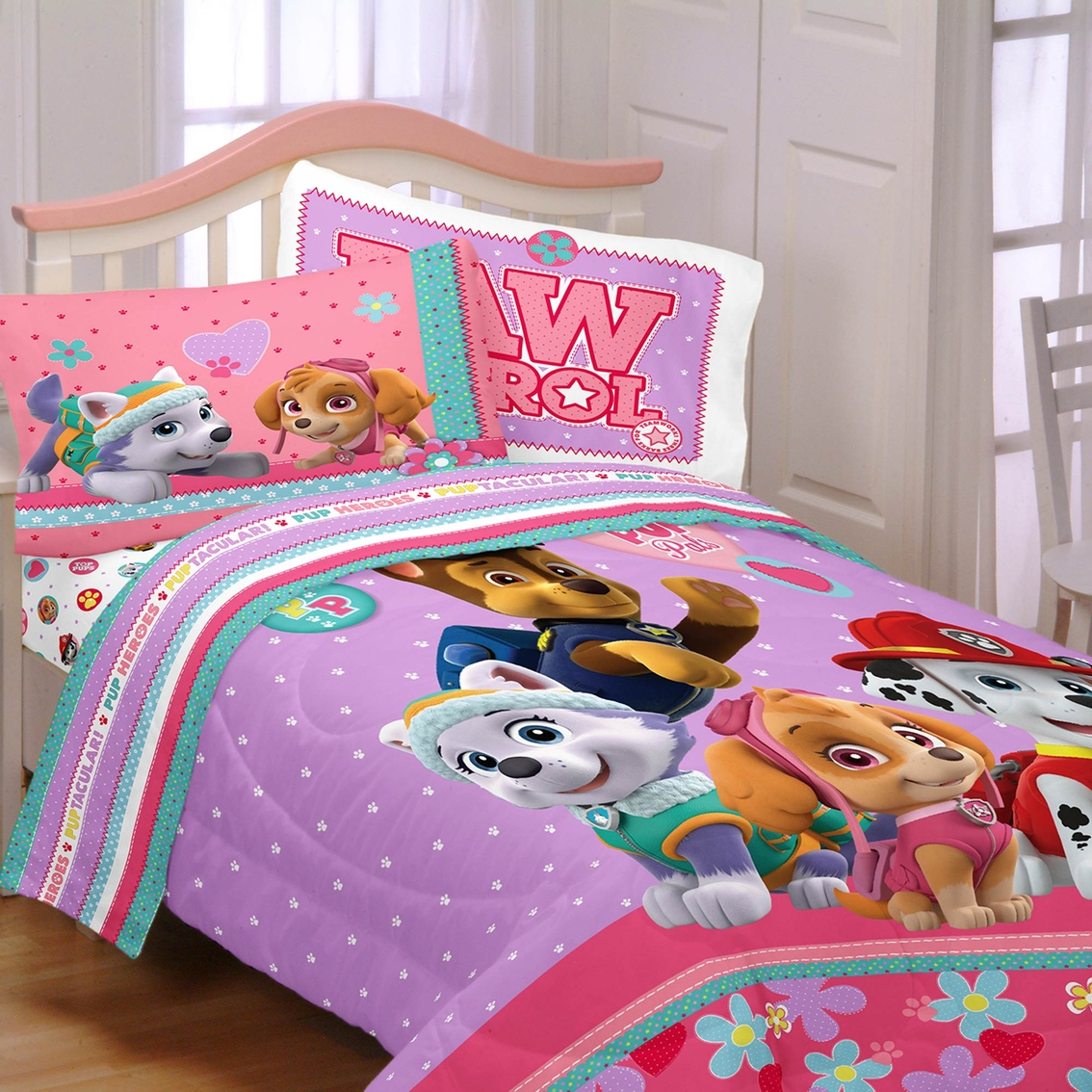Sub Wiring Diagram Comforter Diagrams Ohm Subwoofer Likewise Dual Voice Coil Speaker Nickelodeon Girls Paw Patrol Best Pup Pals Twin Full Rh Shopmyexchange Com Guide 2