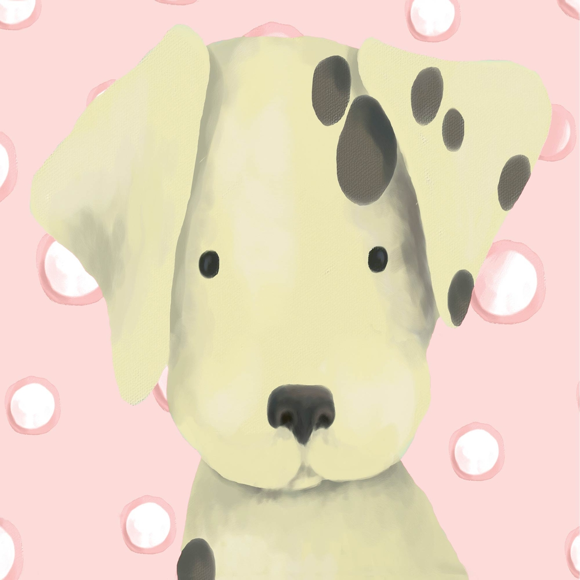 Greenbox Art 10 X 10 Pink Radley The Dalmatian Canvas Wall Art ...