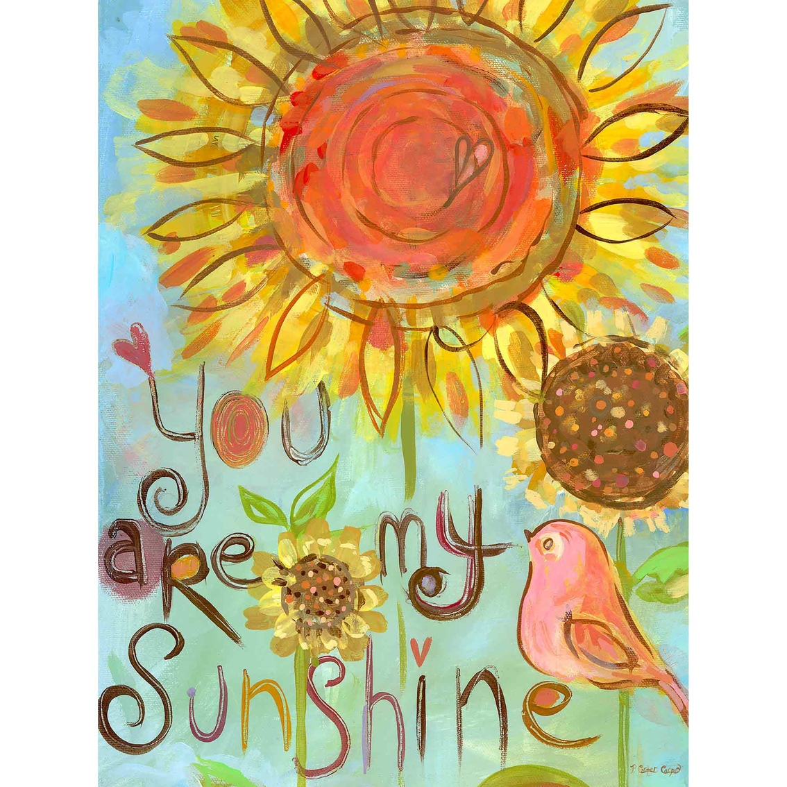 Greenbox Art 18 X 24 You Are My Sunshine Canvas Wall Art | Wall ...
