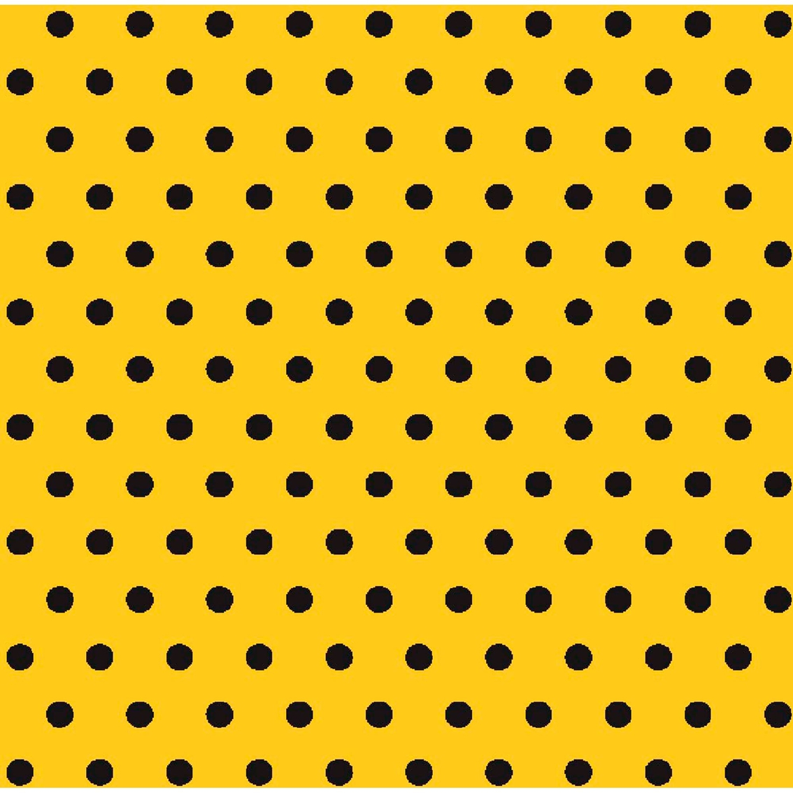 Springs Creative Black Polka Dots On Yellow Fabric | Fabric | Home ...