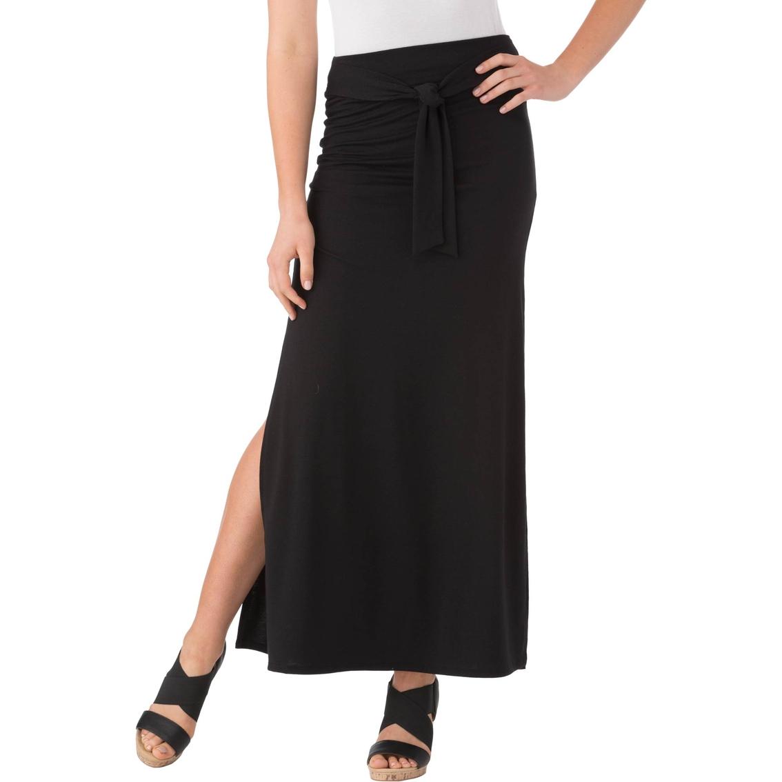 joe b juniors front tie solid maxi skirt skirts