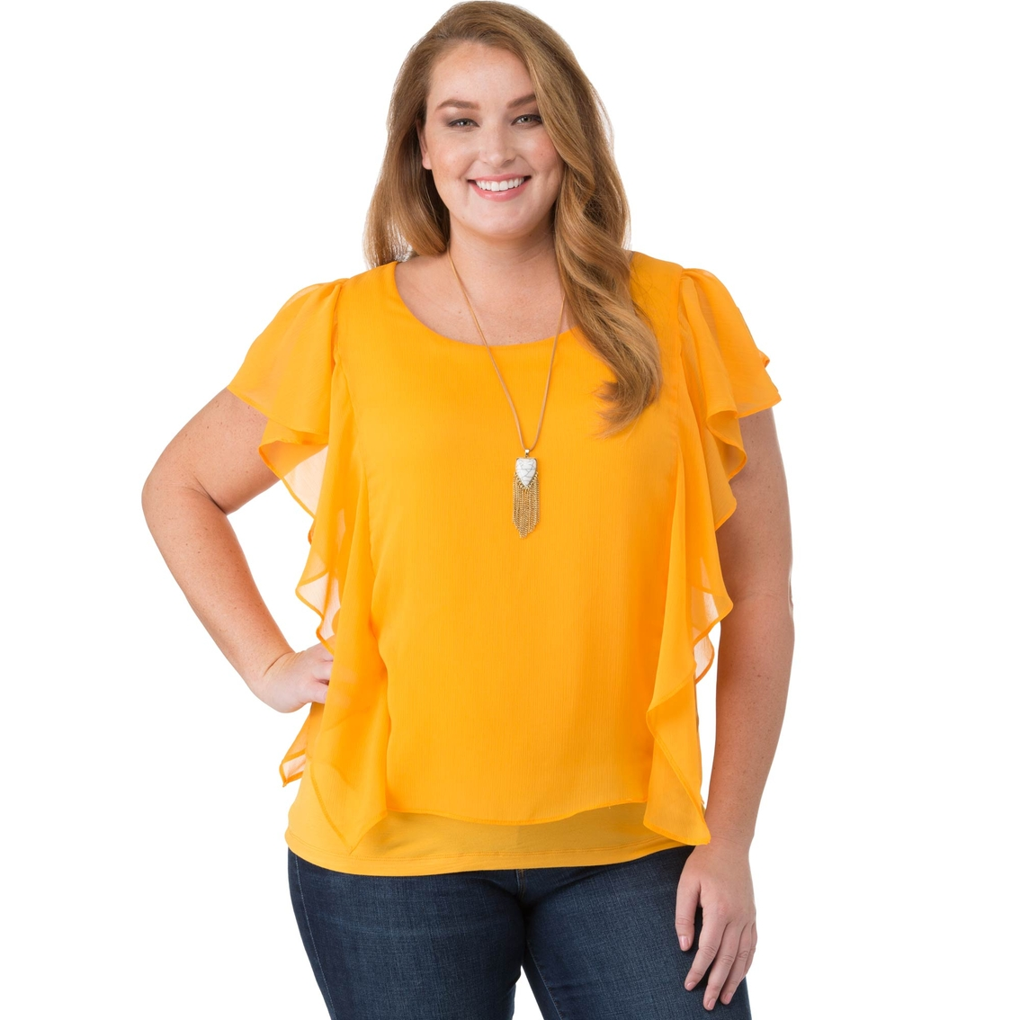 Agb Plus Size Popover Blouse   Blouses & Tunics   Clothing