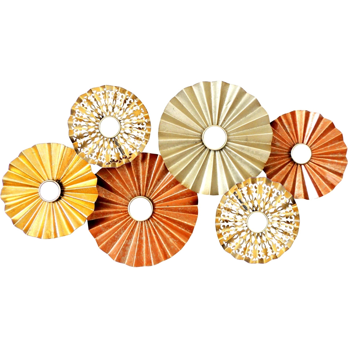 Simply Perfect 3d Round Metal Wall Decor With Small Mirrors ...