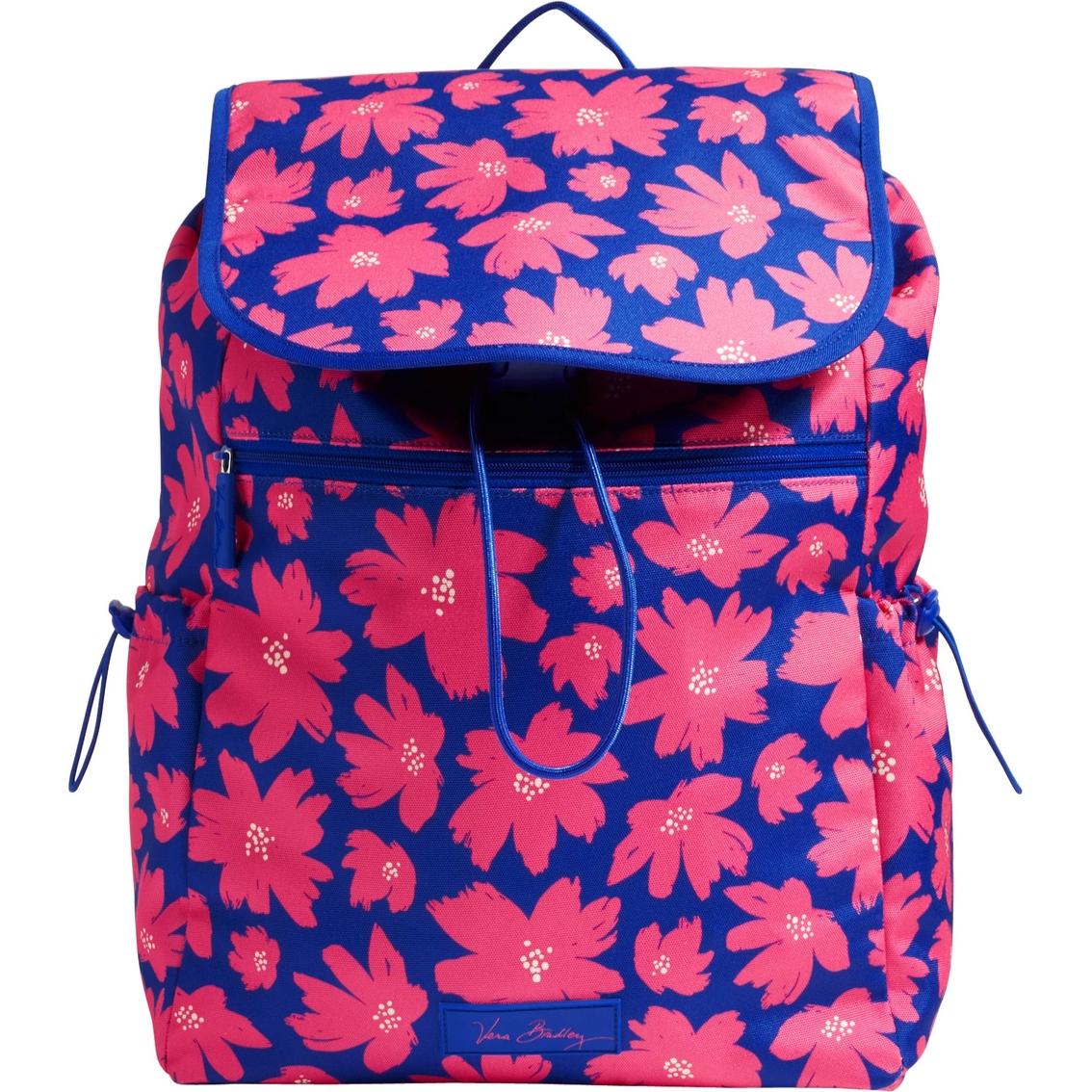 Vera Bradley Lighten Up Drawstring Backpack, Art Poppies
