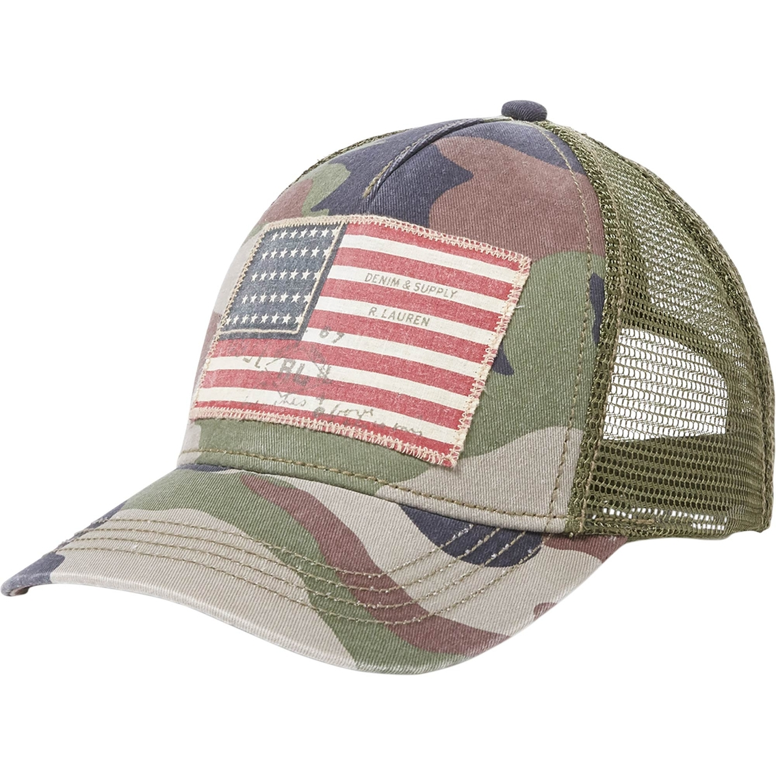 Denim   Supply Ralph Lauren Flag Trucker Hat  43e8cfd2642