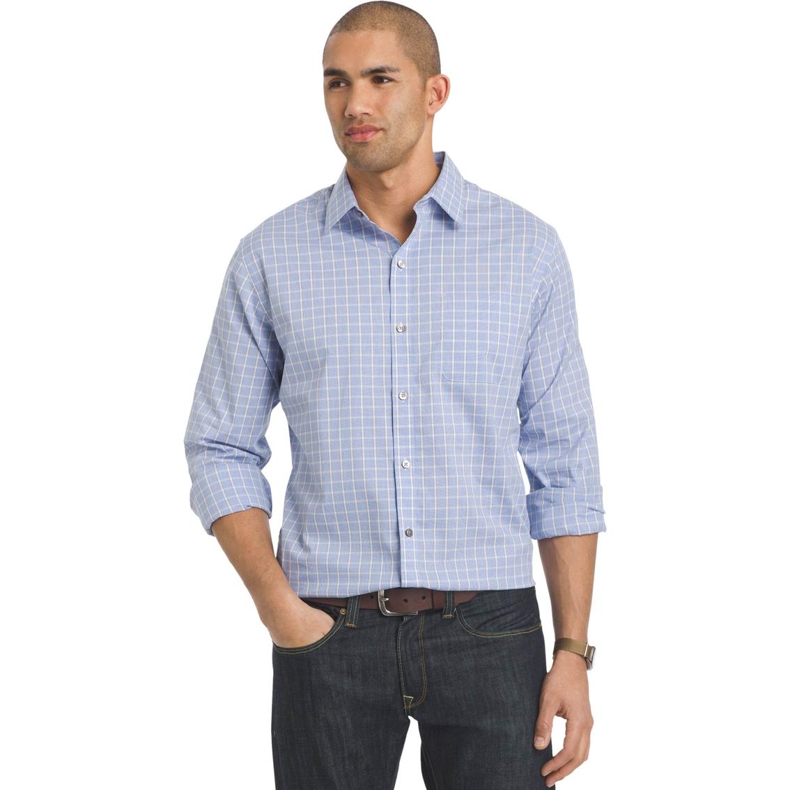 Van heusen sportwear traveler non iron stretch shirt for Van heusen iron free shirts