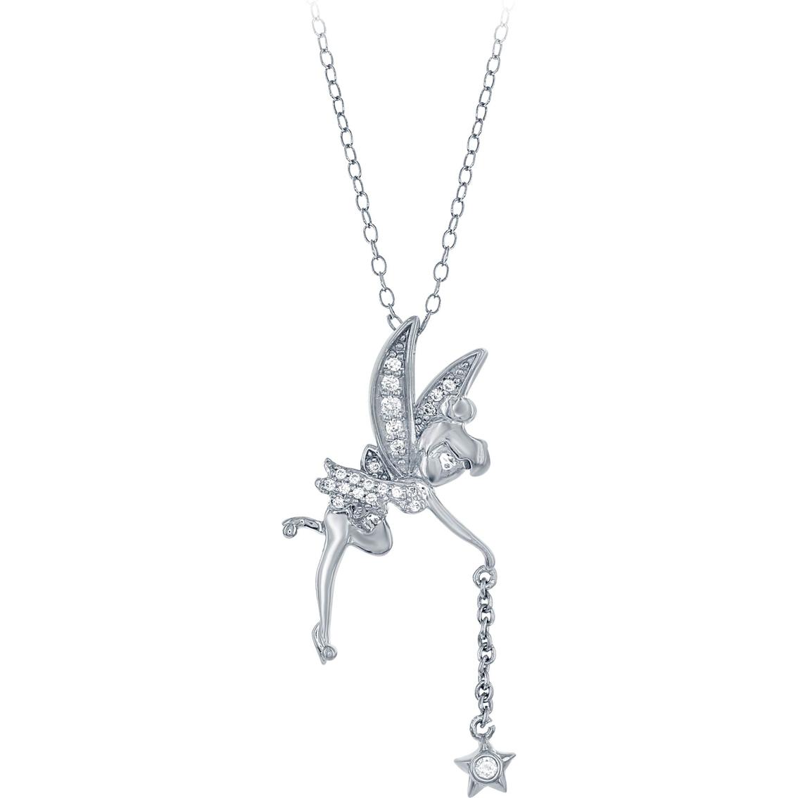 Disney enchanted sterling silver 110 ctw diamond tinkerbell pendant disney enchanted sterling silver 110 ctw diamond tinkerbell pendant aloadofball Images