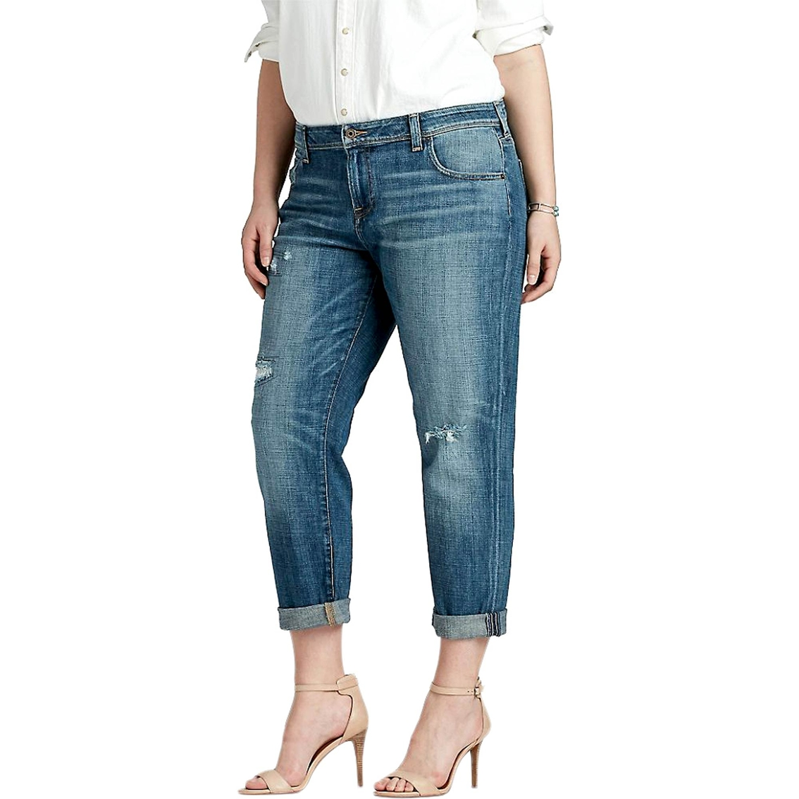 c0f2eb7a3e6 Lucky Brand Plus Size Reese Boyfriend Jeans