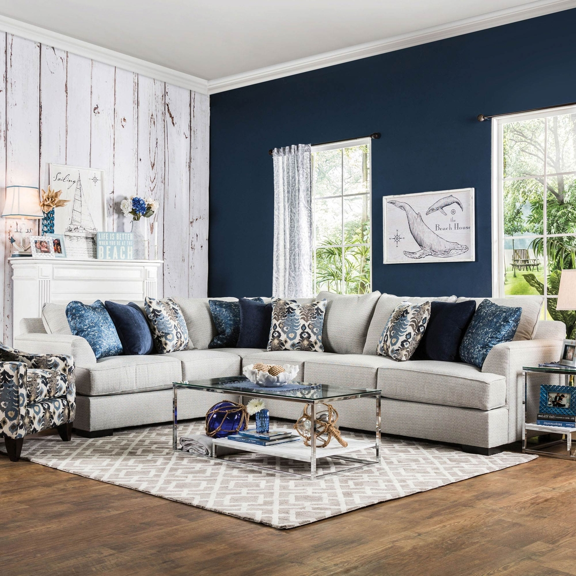 Furniture Of America Fortune Two Piece Sectional Sofa