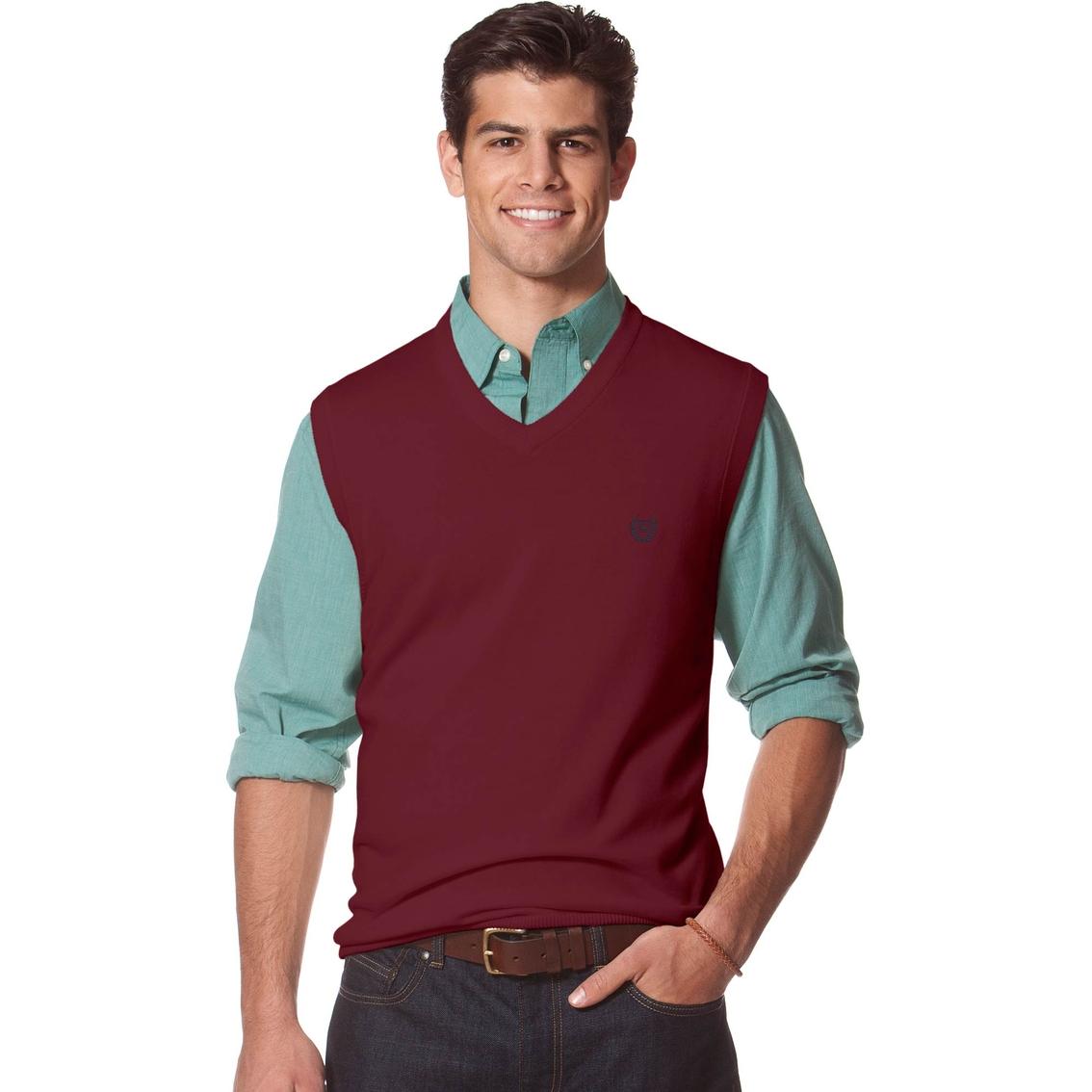 Chaps Combed Cotton Sweater Vest | Men's | Clearance | Shop The ...