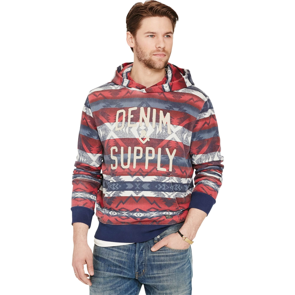 dirt cheap a few days away delicate colors Denim & Supply Ralph Lauren Southwestern French Terry Hoodie ...