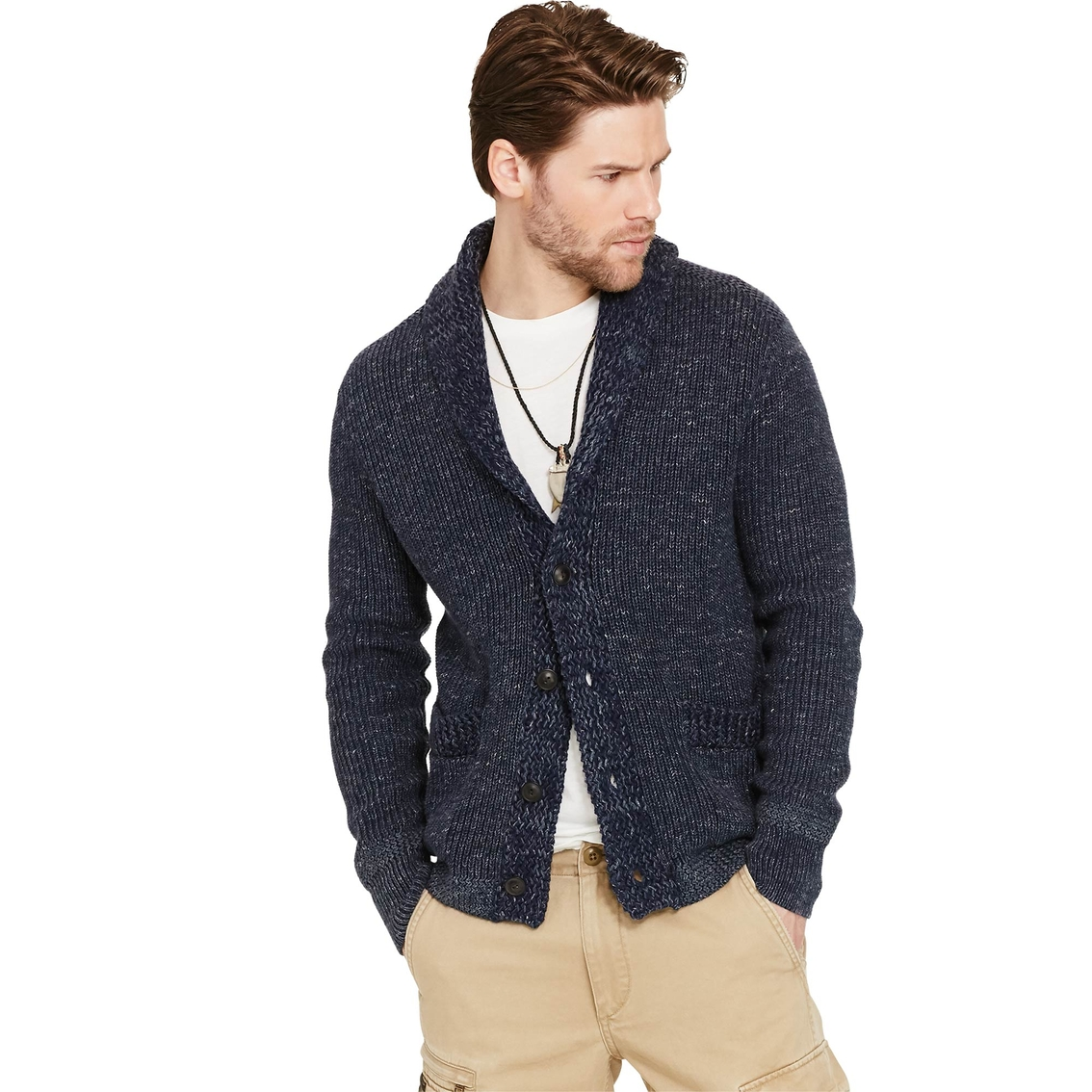383122940 Denim   Supply Ralph Lauren Cotton Shawl Collar Cardigan