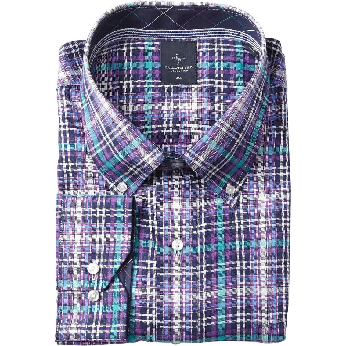 Tailorbyrd big tall lake malawi purple dress shirt for Big and tall purple dress shirts