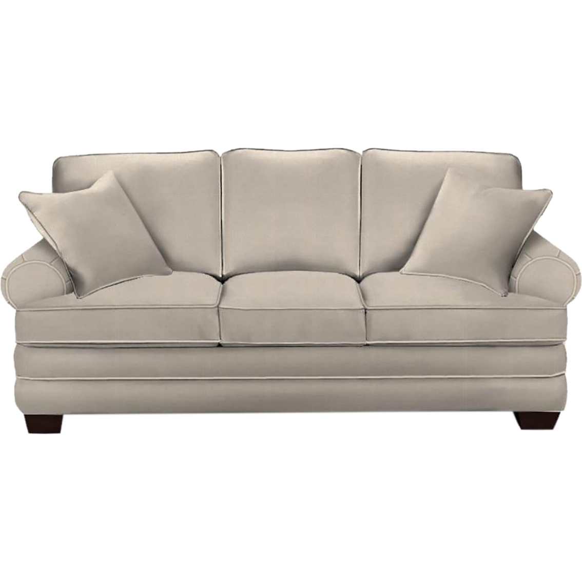 Hgtv home design studio by bassett sock arm queen sofa for Design studio sectional sofa