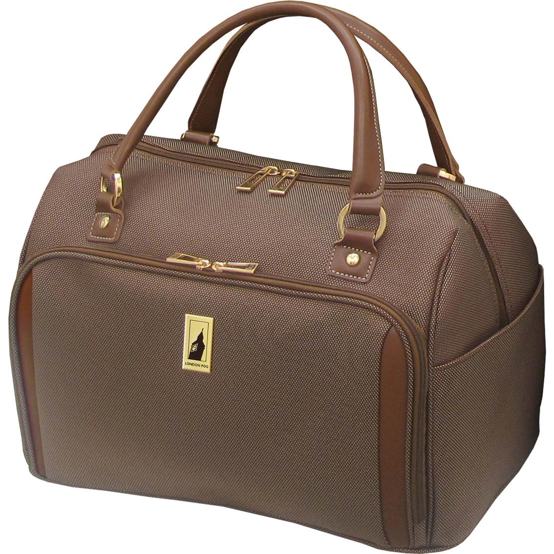 london fog kensington 17 in deluxe cabin bag bronze - London Fog Luggage