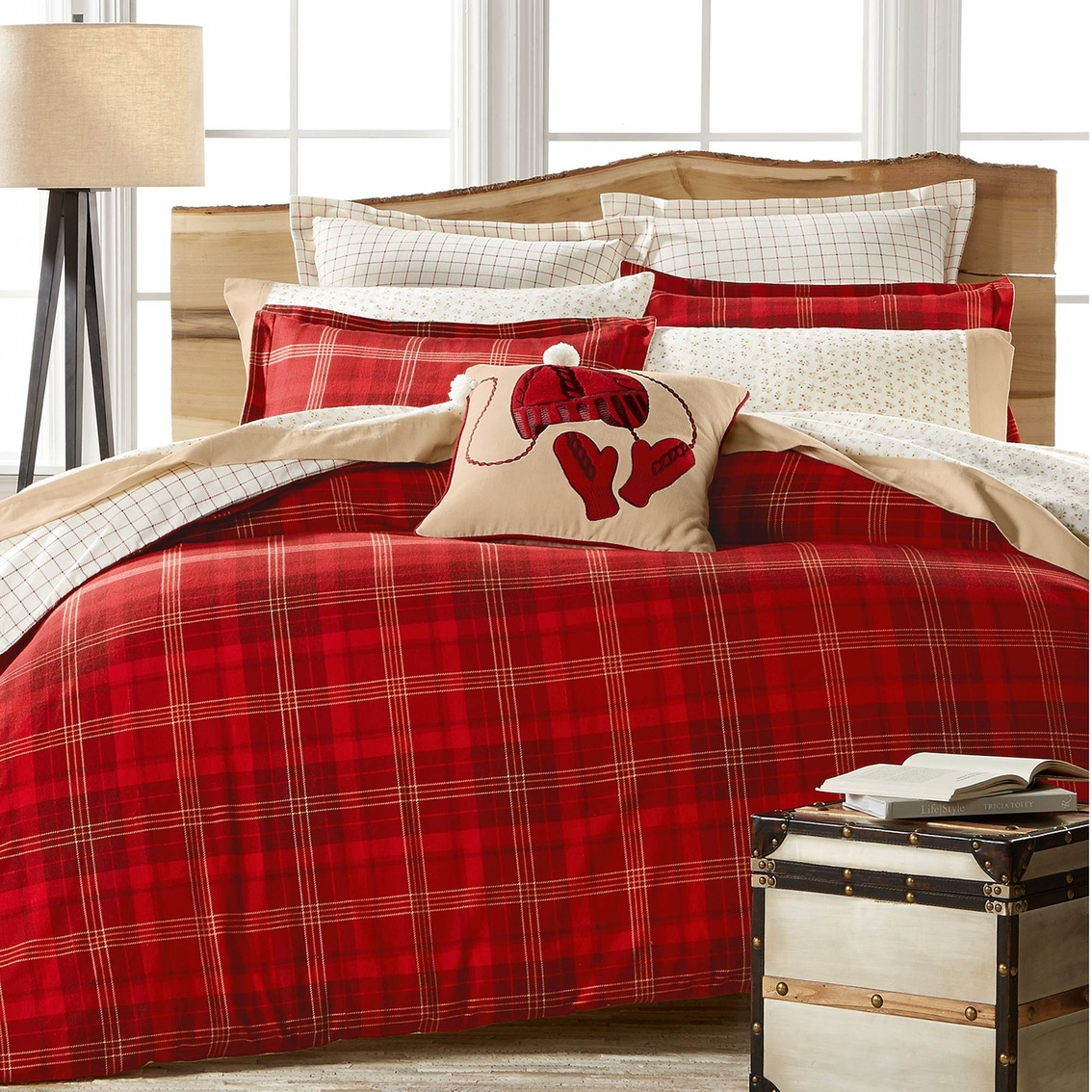 Martha Stewart Collection Appleton Plaid Flannel Duvet Comforters Quilts Household Shop The Exchange