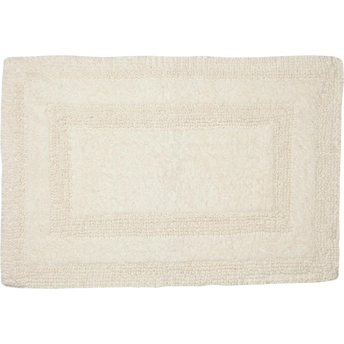 Reversible Bathroom Mats: Savannah Reversible Cotton Bath Rug