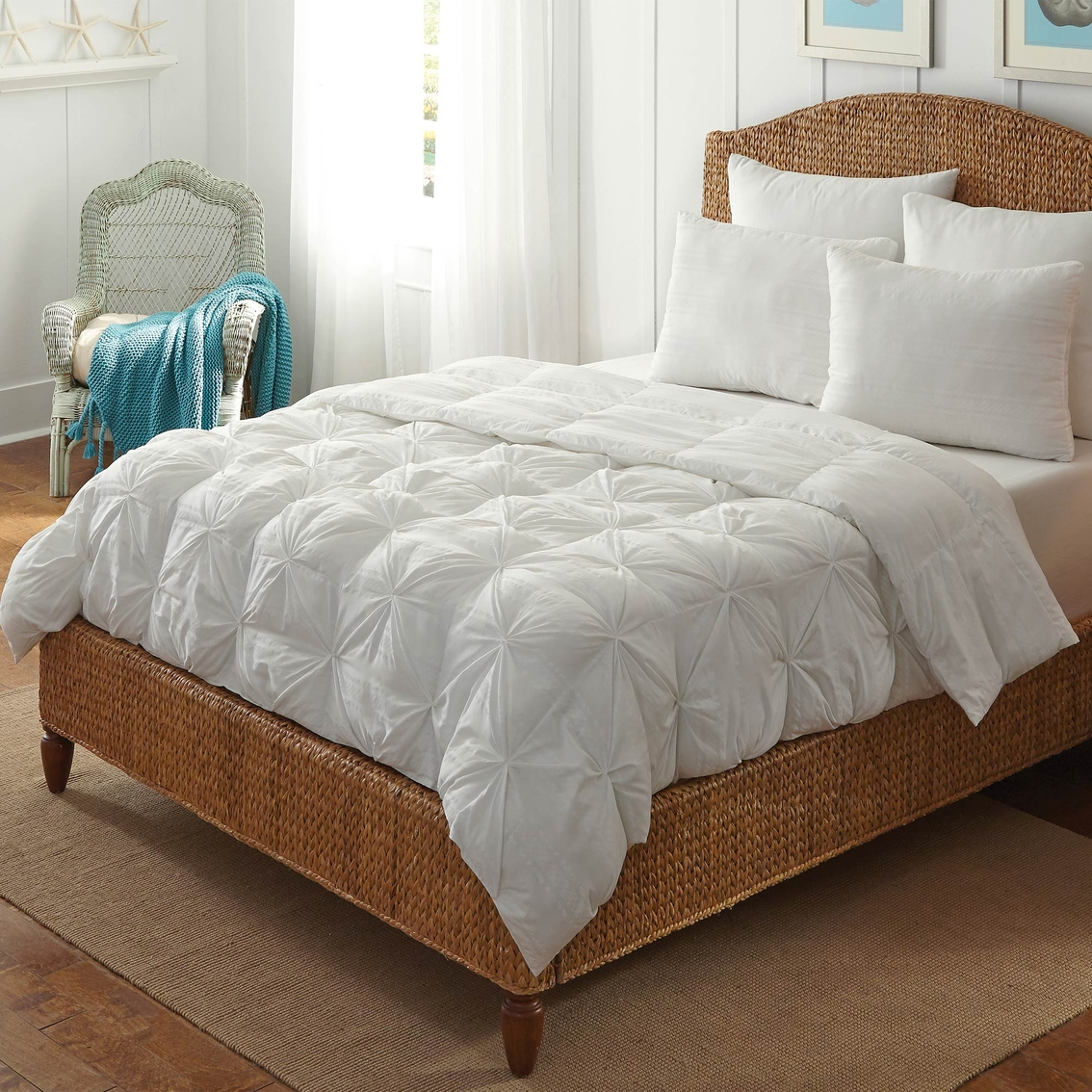 Rio home fashions tufted down alternative comforter down - Home design down alternative comforter ...