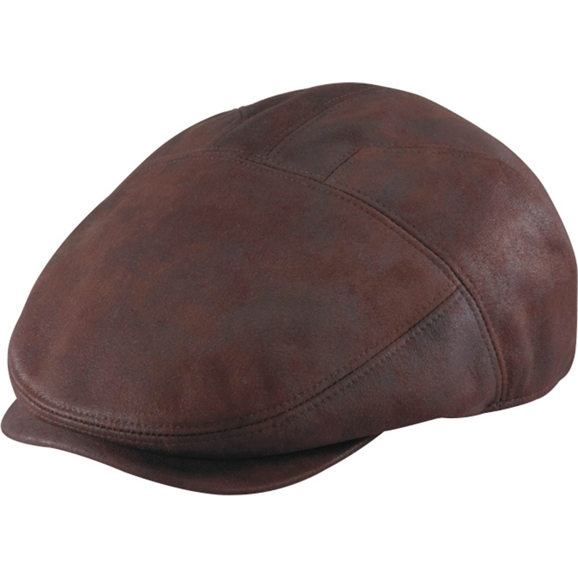 Henschel Men/'s Faux Ultra-Suede Leather New Shape Ivy Hat