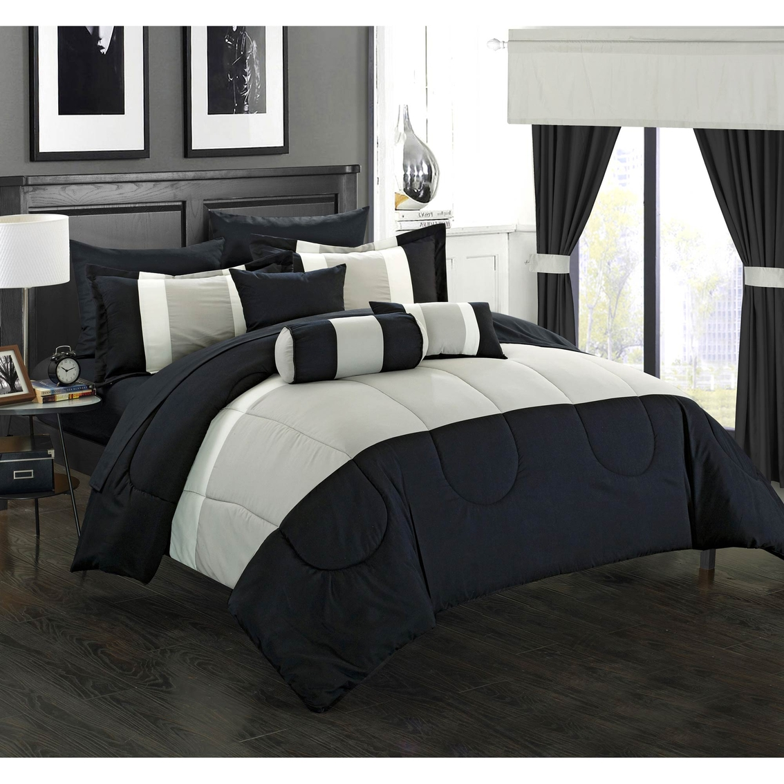chic home design knightsbridge 20 pc room in a bag bedroom set