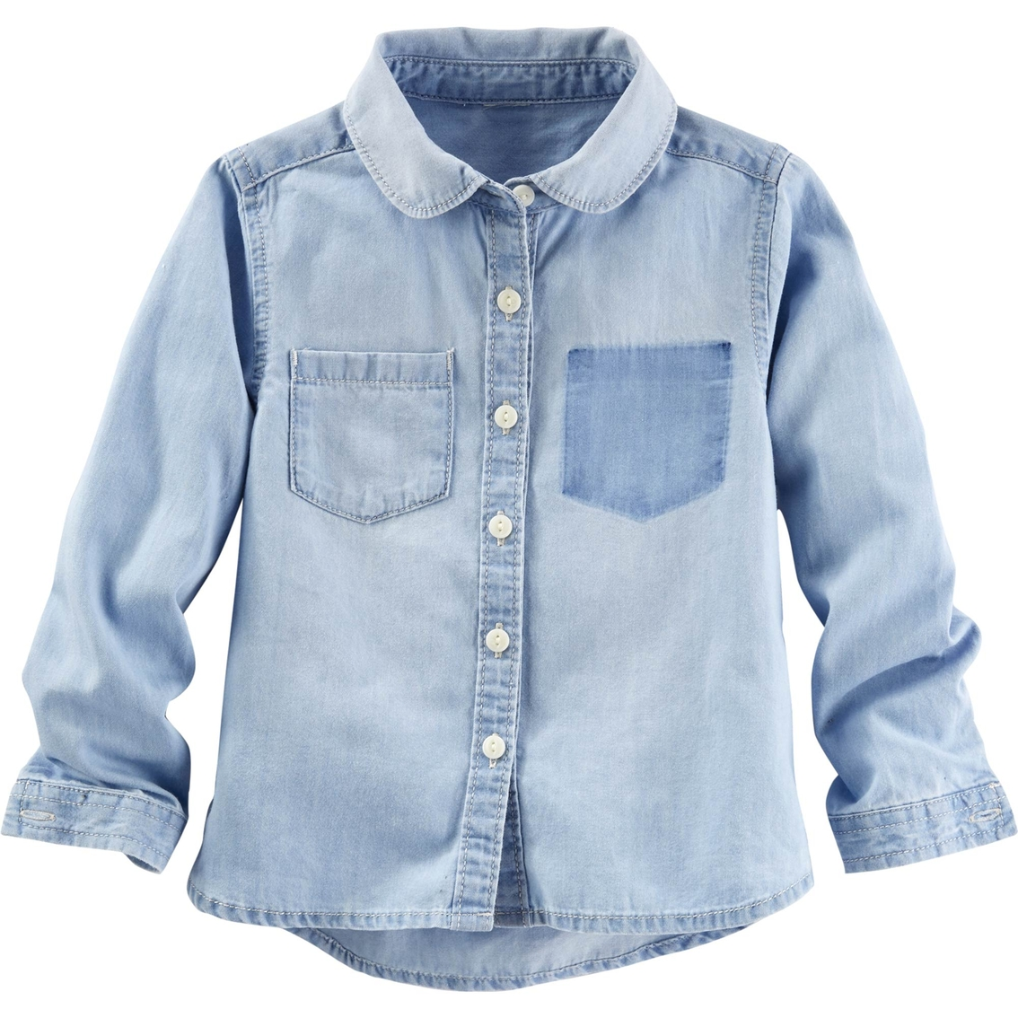 oshkosh b 39 gosh little girls button front chambray shirt