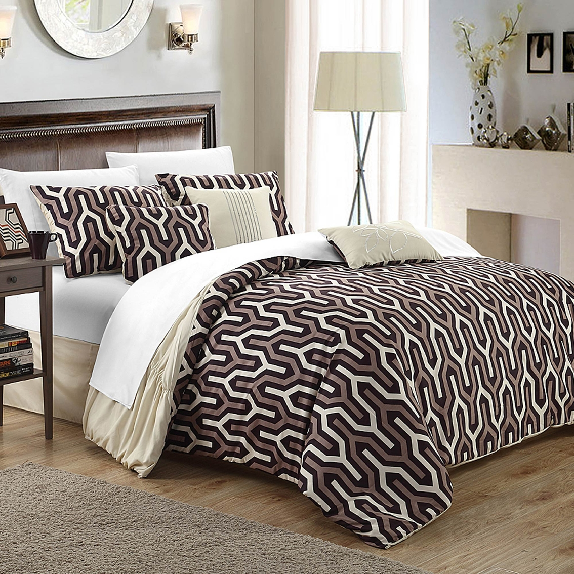 chic home design natalie 7 pc. duvet set | duvet covers | home