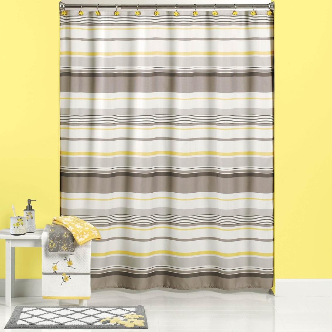 Saturday Knight Spring Garden Stripe Shower Curtain