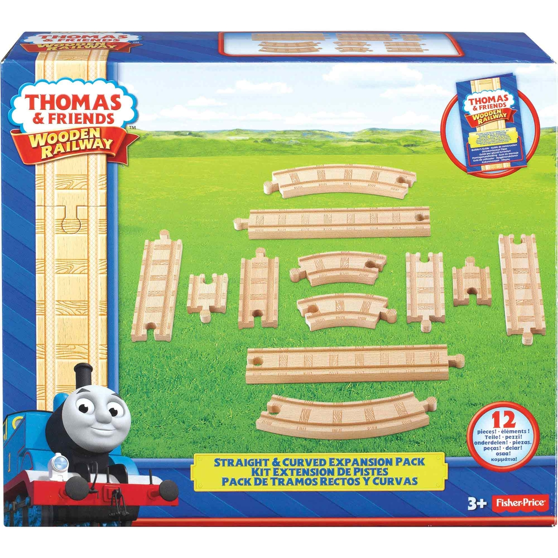 Fisher Price Thomas Wooden Railway Straight Curved Expansion Pack