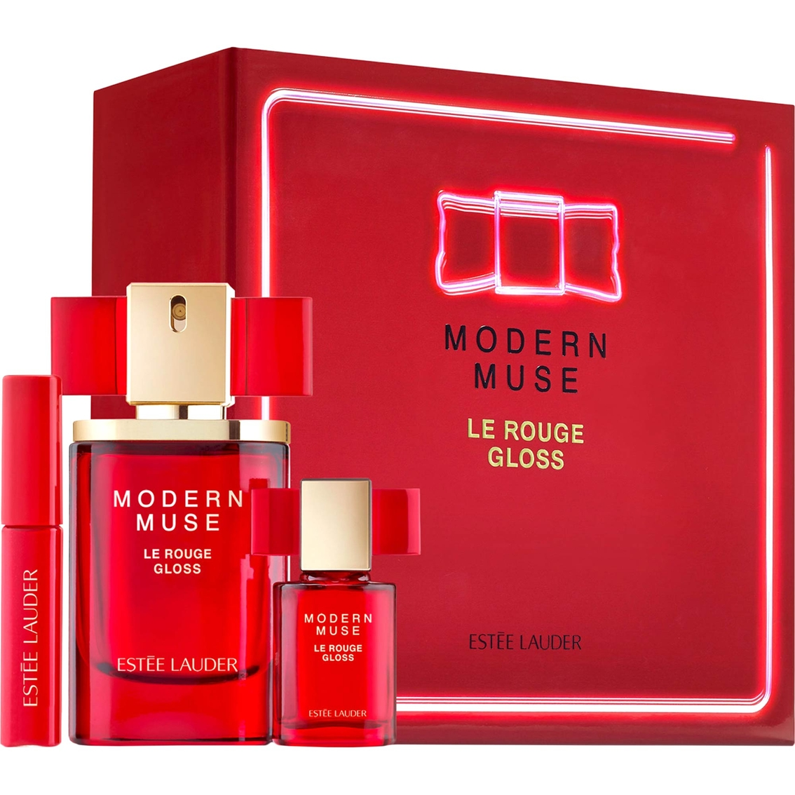 Estee Lauder Modern Muse Le Rouge Gloss 3 Pc Limited Edition Set For Women
