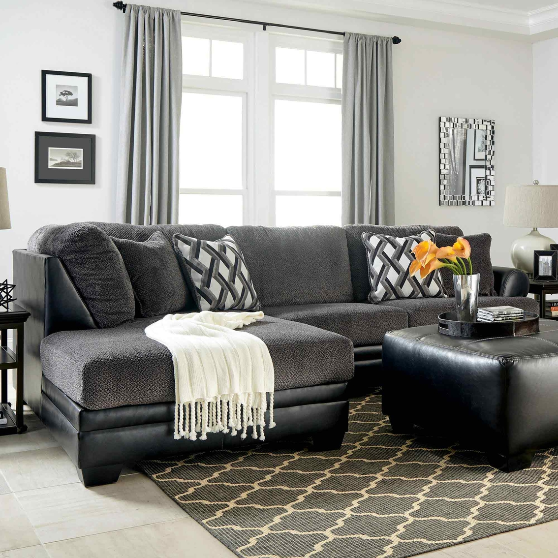 Benchcraft Kumasi 2 Pc. Sectional LAF Corner Chaise/RAF Sofa