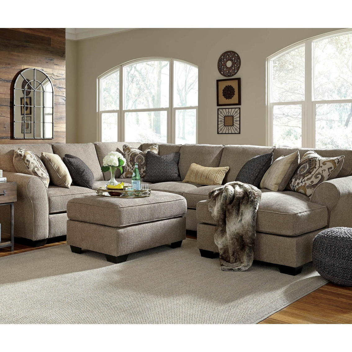 Benchcraft Pantomine 4 Pc Sectional Raf Chaise Armless Loveseat