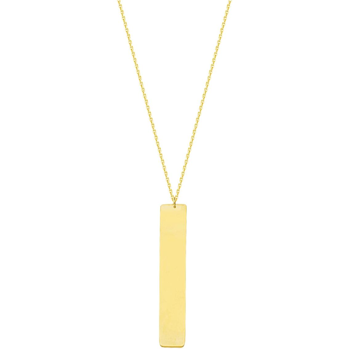 14k gold adjustable bar name plate necklace gold. Black Bedroom Furniture Sets. Home Design Ideas