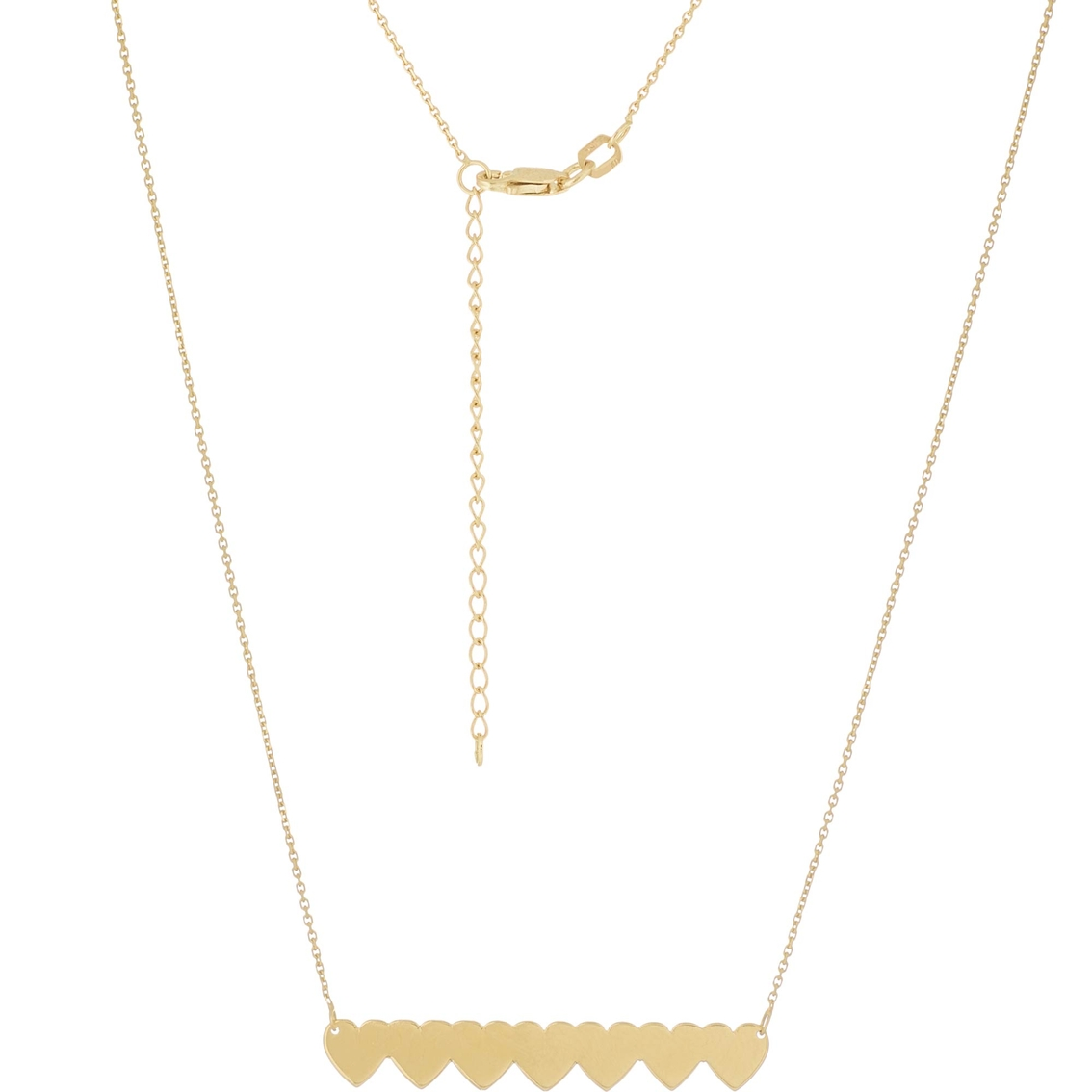 14K Yellow Gold Military Plane Pendant on an Adjustable 14K Yellow Gold Chain Necklace