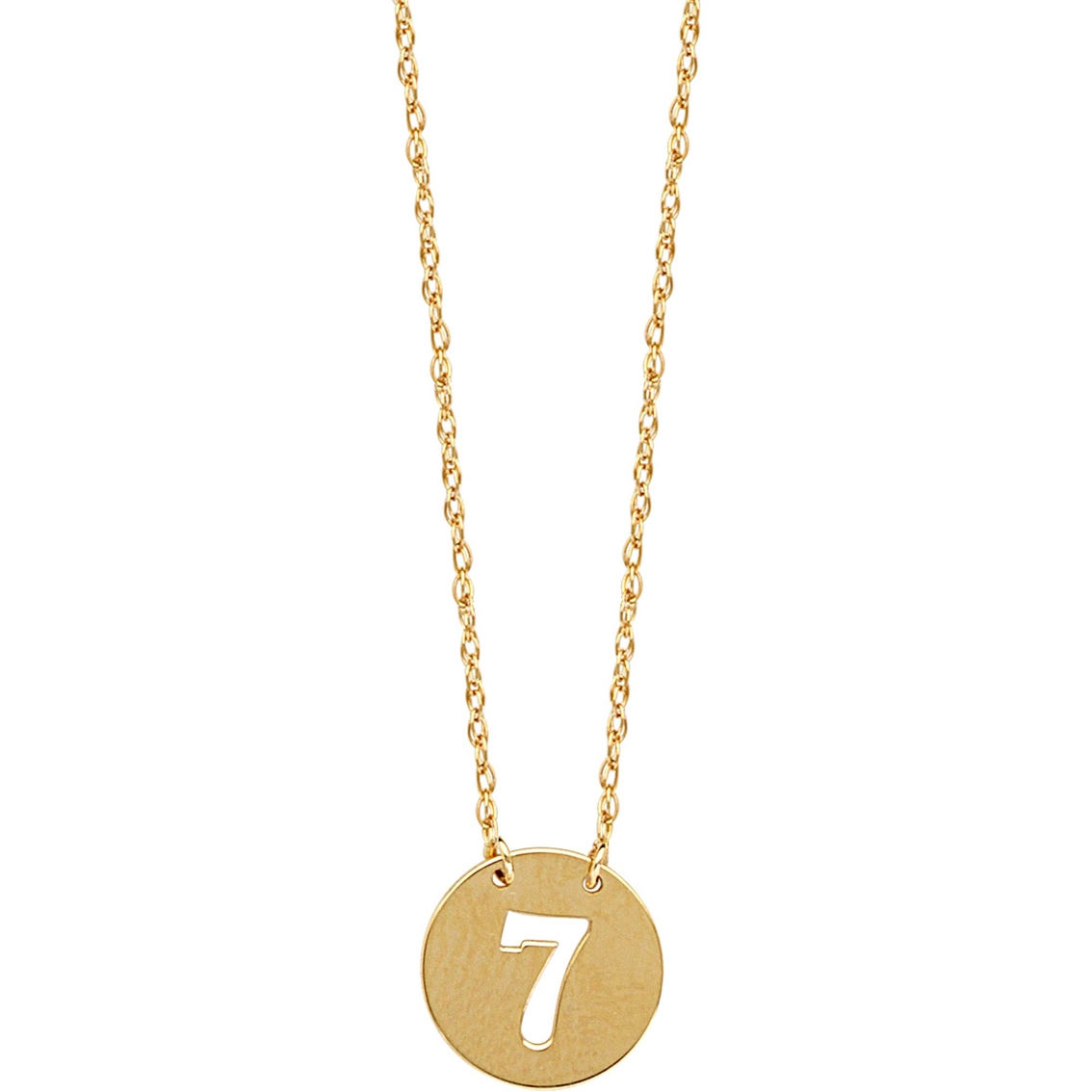 FB Jewels 14K Yellow Gold Camera Cut Out and Flat Pendant
