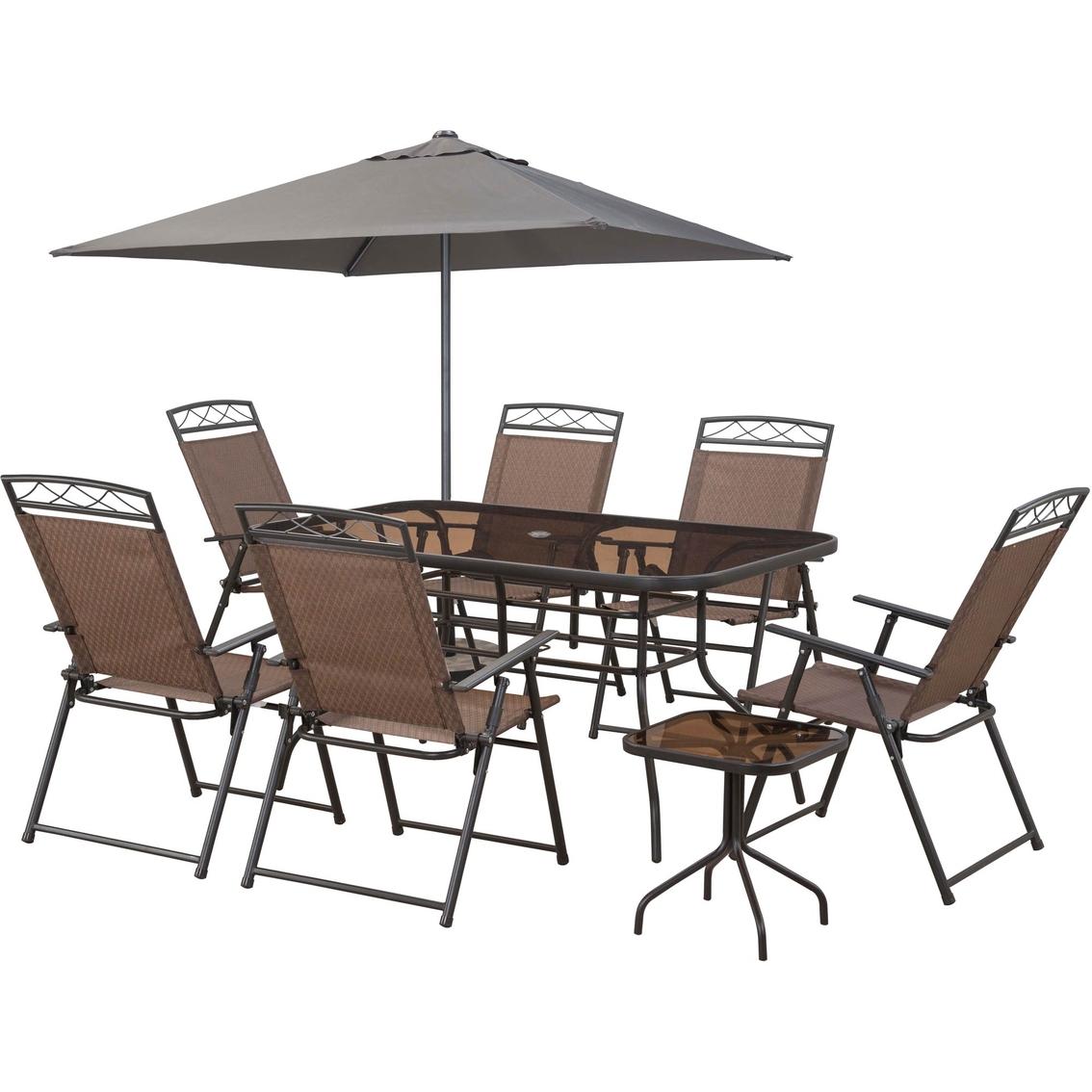 Courtyard Creations Arrowhead 9 Pc Sling Folding Set