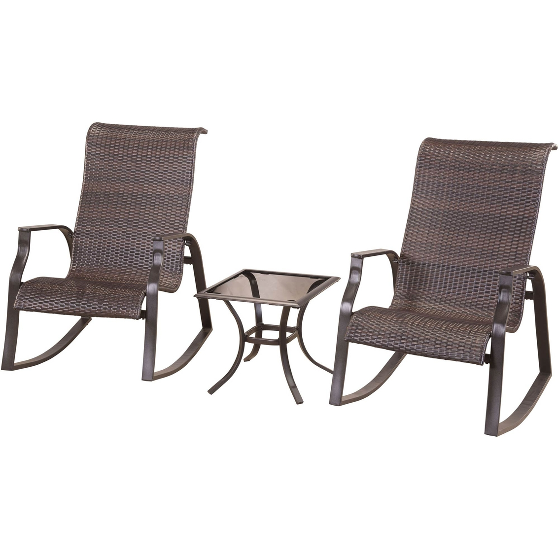 Courtyard Creations Mayfair 3 Pc. Wicker Rocker Set