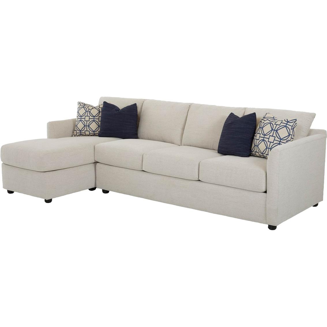 Klaussner Atlanta 2 Pc. Sectional Raf Queen Sleeper Laf Corner Sofa ...