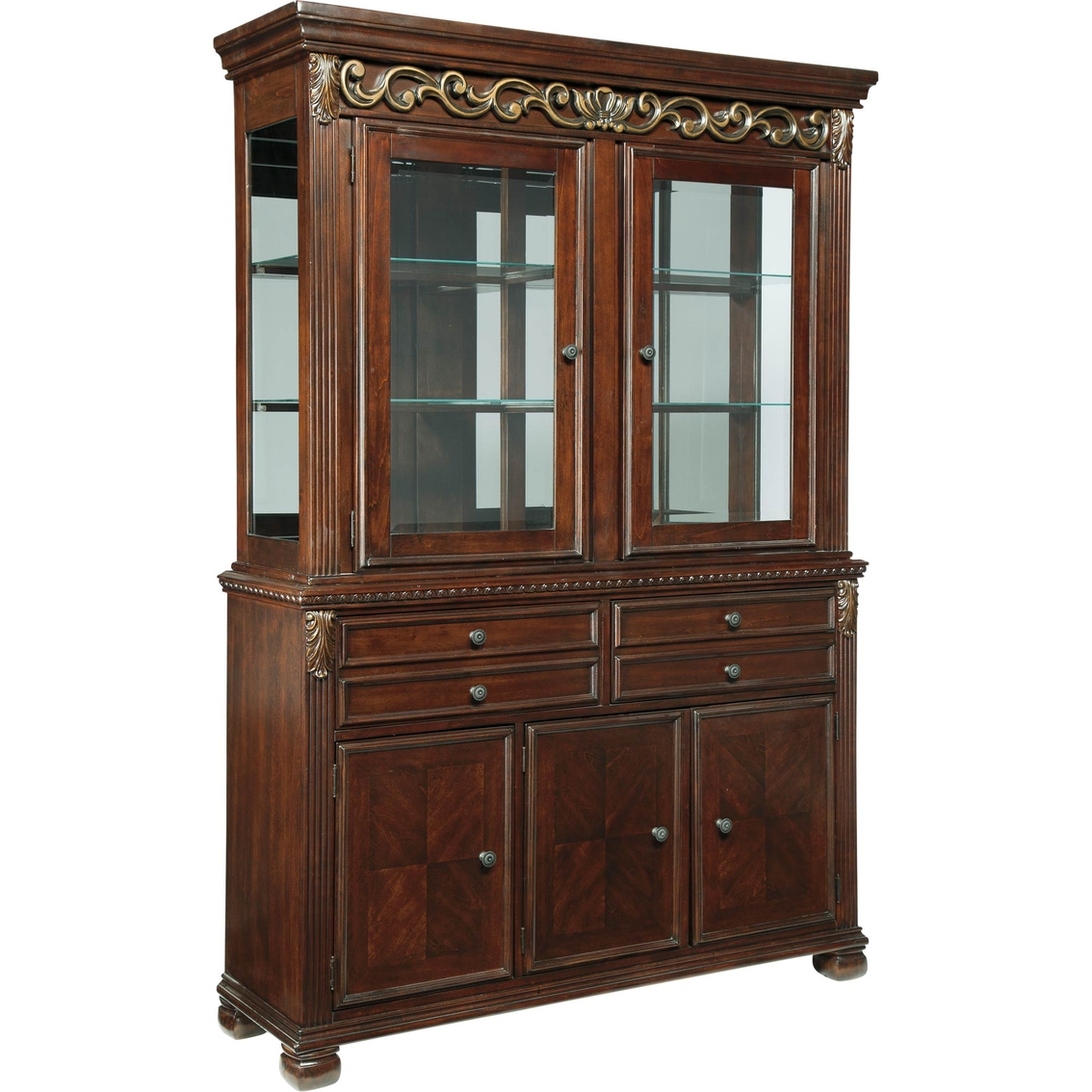 Ashley Leahlyn Dining Room Buffet And Hutch Dining Storage Home App