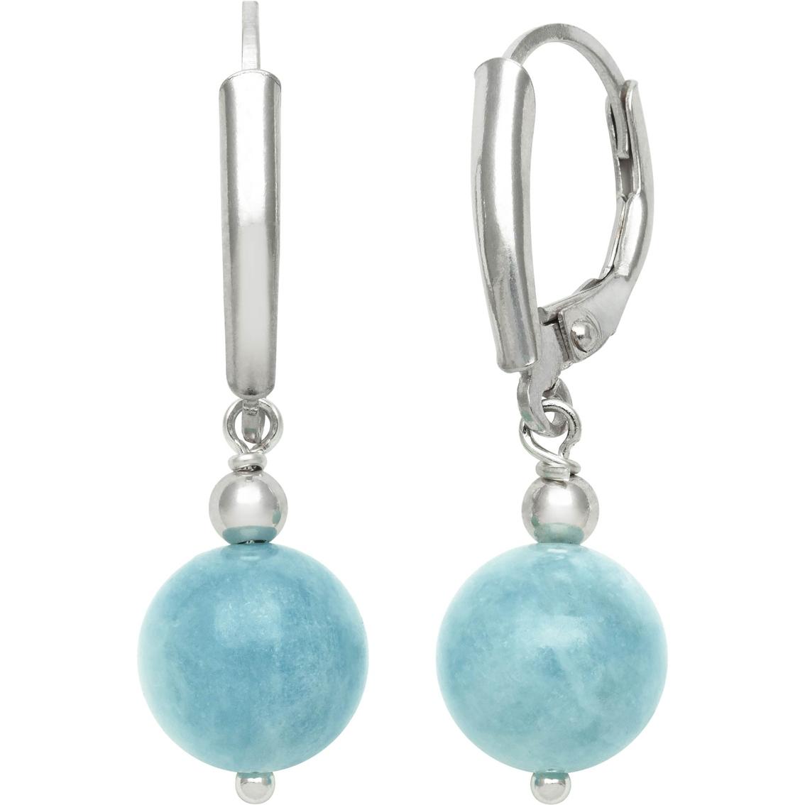 Aquamarine Gemstone Earrings: Sterling Silver Milky Aquamarine Earrings