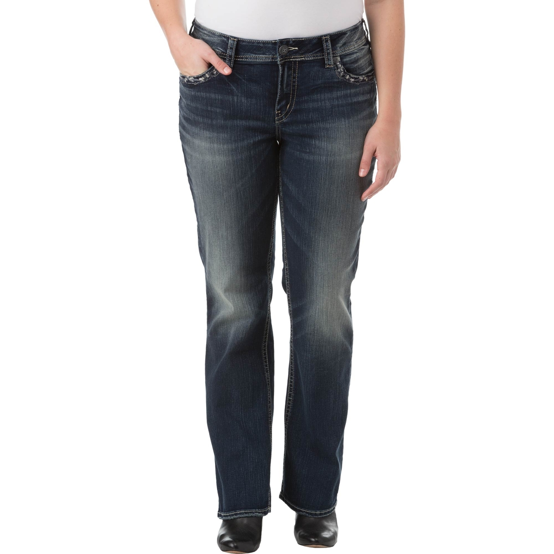 847f46cd144 Silver Jeans Plus Size Suki Mid Slim Bootcut Jeans
