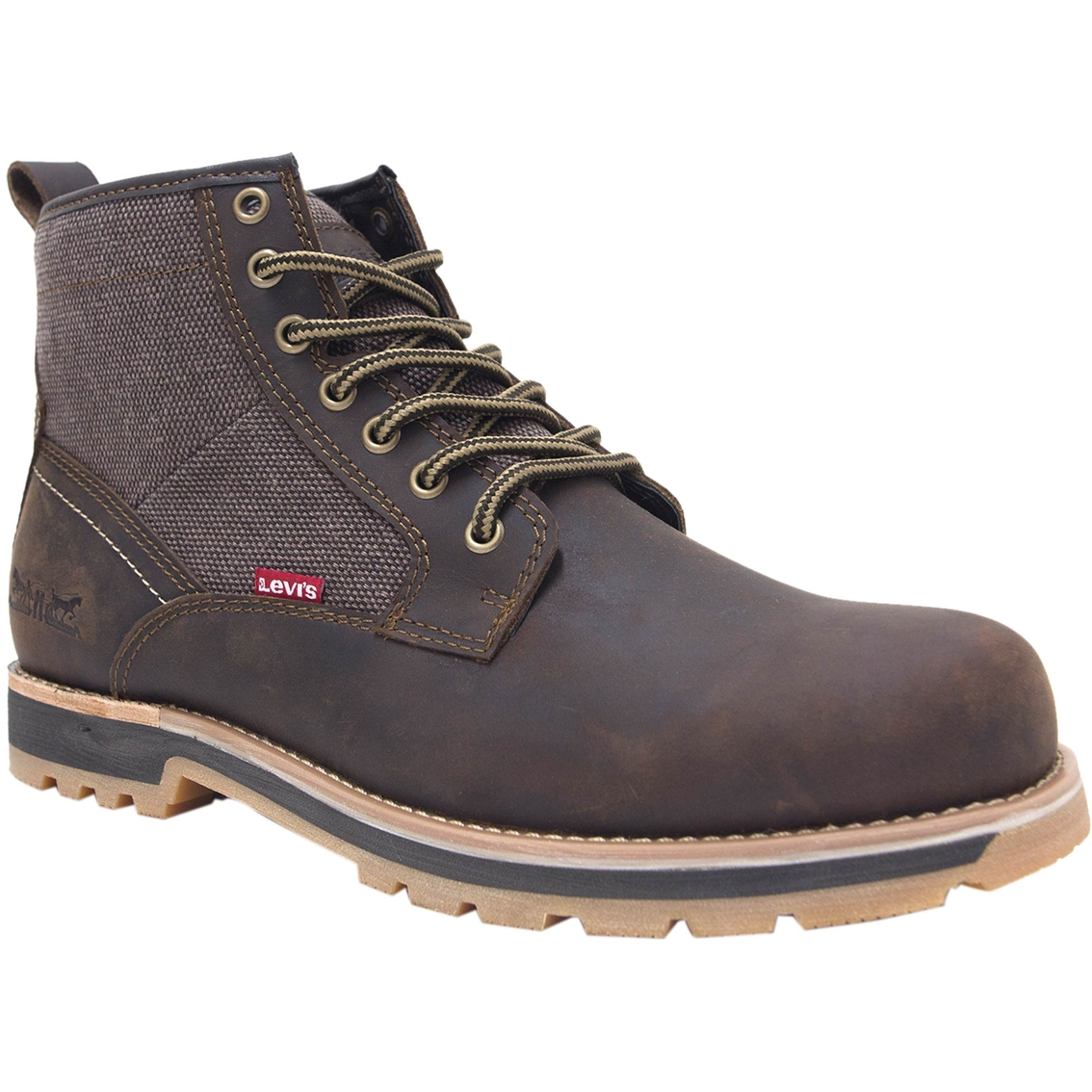 822e201b Levi's Logan Crazy Horse Leather And Hemp Boots | Casual | Shoes ...