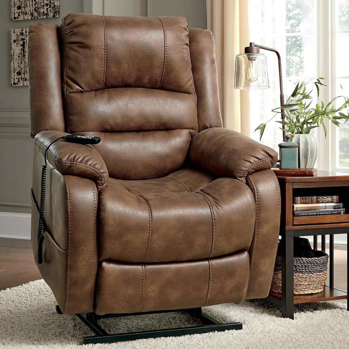 Ashley Yandel Power Lift Recliner | Chairs & Recliners | Home ...
