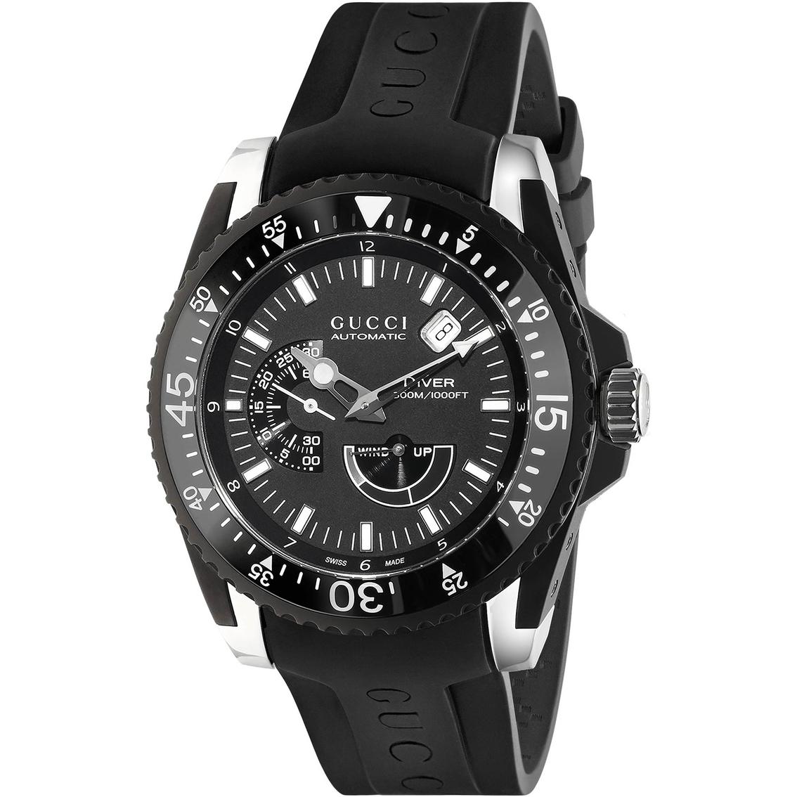 d6a9d255254 Gucci Men s women s Dive Automatic Xl Watch 45mm Ya136201