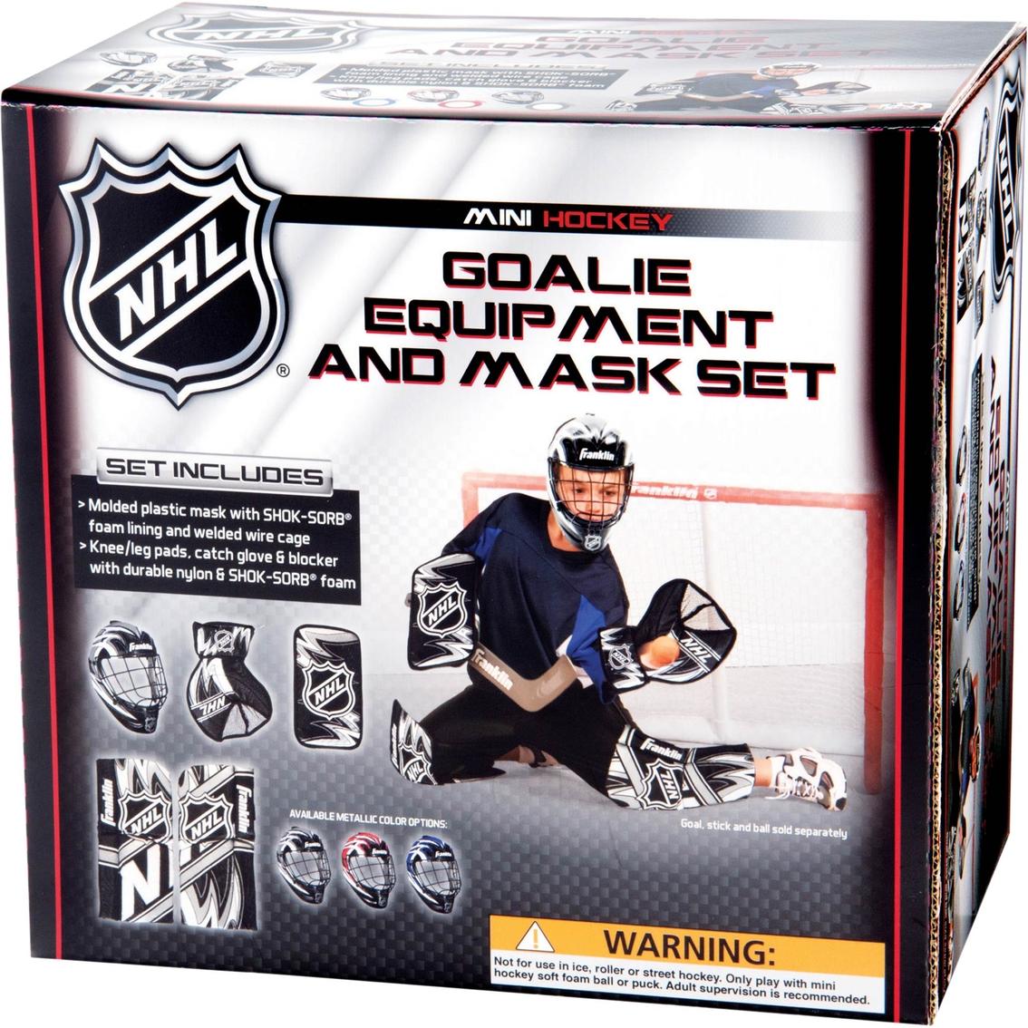 Franklin Sports Nhl Mini Hockey Goalie Equipment And Mask Set
