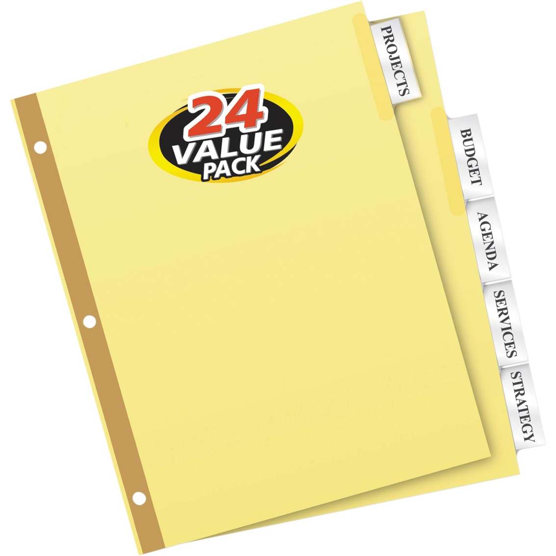 Avery Insertable Big Tab Dividers 5 Tab Letter 24 Sets Binders