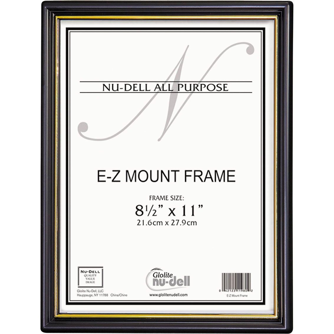 Nudell Ez Mount Document Frame With Trim Accent, 8 1/2 X 11 In ...