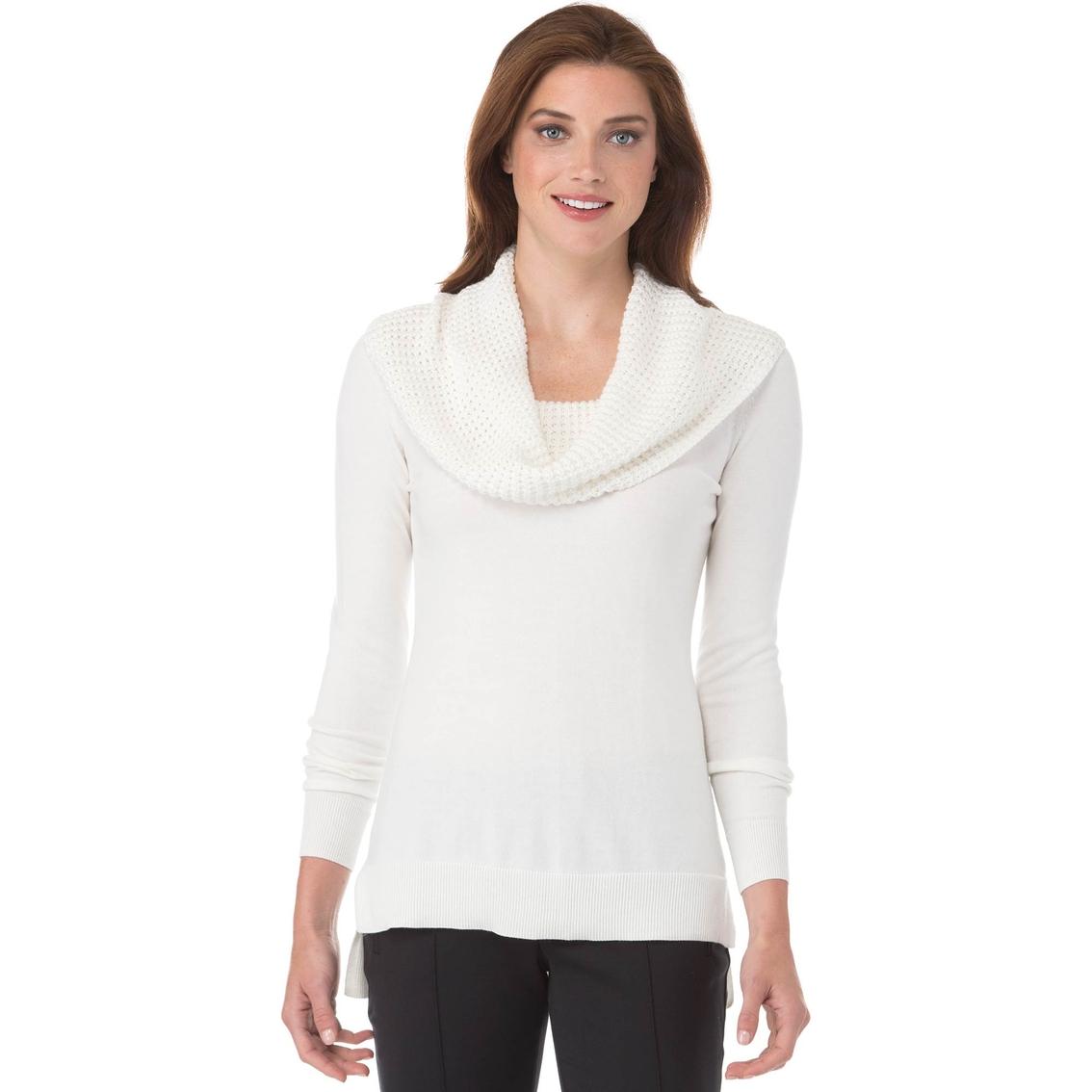 Michael Kors Waffle Cowl Neck Sweater | Women's | Clearance | Shop ...